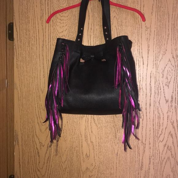 Betsey Johnson Handbags - Fringed Betsey Johnson tote